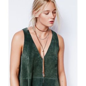 NEW Free People Two Faced Leather Mix Bolo